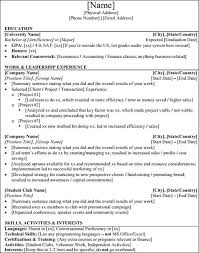 Investment Banking Analyst Resume Example Template All Best Ideas Samples