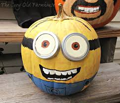 Minion Pumpkin Template Paint by The Cozy Old