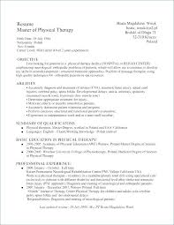 Massage Therapist Sample Resume Therapy Student