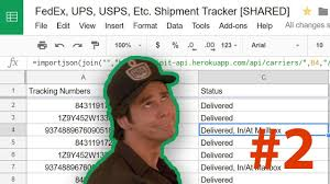 Track FedEx And UPS Packages In Google Sheets 📦 #2 - Delivery Date ... Usps Made An Ornament That Displays Package Tracking Updates Updated Tracking Texts The Ebay Community Ups Fedex Or Dhl We Do It All Pak Mail Northland Drive Amazon Prime Late Package Delivery Refund Retriever What Does Status Not Mean With Zipadeedoodah 1963 Studebaker Zip Van Program Allows Children To Get Mail From Santa Local News New Tom Telematics Link 530 Webfleet Gps Tracker Work Pro How To Add Track Your Order Page Shopify In 5 Minutes