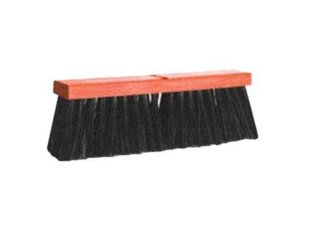 "Dqb 08514 Poly Push Broom Head Only 18"" Black"