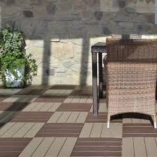 Plastic outdoor floor tiles PIASTRELLA By ek
