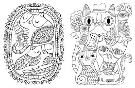 Amazon Posh Adult Coloring Book Cats Kittens For Comfort Creativity Books 9781449478735 Flora Chang