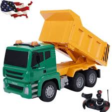 100 Dump Truck Toddler Bed Kids Boy Remote Control RC Construction Charger Toys