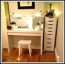 Vanity Desk Ikea Furniture Vanity Makeup Table With Lights And