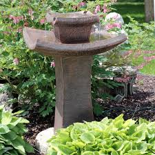Sunnydaze Modern Zen 2Tier Outdoor Water Fountain