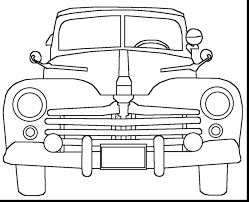 Marvelous Old Classic Cars Coloring Pages With Pdf And Halloween