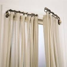 what replace your curtain rods with swing arm rods to open up