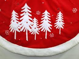 56 Inch Red White Grey Tree Skirt