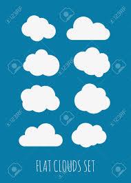 100 Flat Cloud Cloud Illustrations Set
