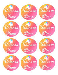 Unicorn Slime Printables Digital Download Labels Kit DIY Amazon