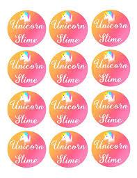 Unicorn Slime Printables Digital Download Labels Kit DIY Amazon