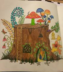 Tree Stump Enchanted Forest Coloring Book