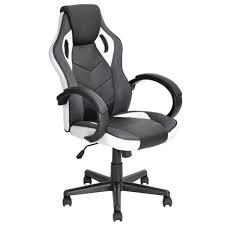 fauteuil de bureau gaming fauteuil de bureau gaming réglable en pu cuir plastique noir
