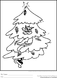 Christmas Tree Coloring Pages Cat Printables Templat 75bac8cccf2e7d18eec579761503f50f