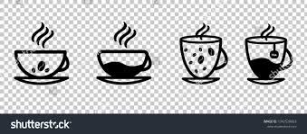 Coffee Cup Set Vector Transparent Background