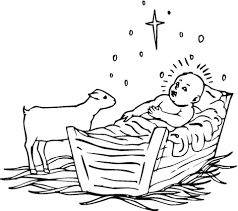 Click To See Printable Version Of Lamb Near Baby Jesus Coloring Page