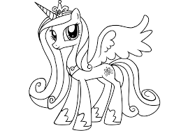Magnificent My Little Pony Princess Cadence Coloring Page With And Pages