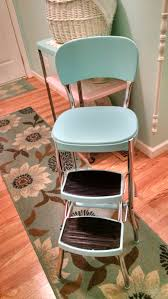 Cosco Folding Chairs And Table by Old Cosco Step Stool Made New Again Vintage Aqua Makeover Pretty