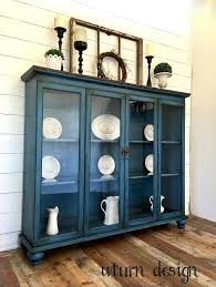 Painted Dining Room Hutch Sold Blue Farmhouse China Cabinets
