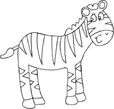 Cute Preschool Coloring Pages Zebra Animal