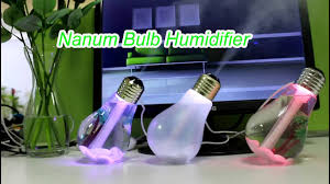 bulb humidifier with led light diffuser oem factory patent