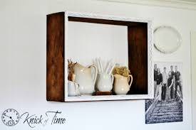 salvage wood shadow box shelf 2 variations a salvage style