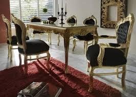 casa padrino barock esszimmer set schwarz gold esstisch 6 stühle möbel antik stil barockgroßhandel de