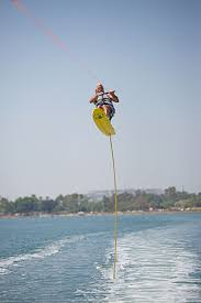 video watch water skiing pro break record on 11 ft air chair