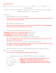 Sea Floor Spreading Model Worksheet Answers by Answer Key Name Date Period Study Guide