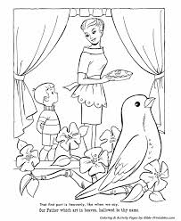 The Lords Prayer Coloring Page 10