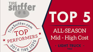 TireSniffer.com's TOP 5 ALL-SEASON Mid-High Cost Light Truck Tires ... Automotive Tires Passenger Car Light Truck Uhp Roadhandler Ht P26570r16 All Season Tire Shop Michelin Adds New Sizes To Popular Defender Ltx Ms Lineup Yokohama Corp Cporation Season Tires Catalog Of Car For Summer And Winter Peerless Chain Vbar Chains Qg28 Walmartcom 2014 Ykhtx Light Truck Suv Tire Available From Best Rated In Allterrain Mudterrain Scorpion Zero Allseason Helpful Time Page 11