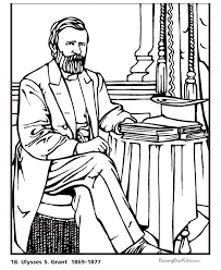 Free Printable President Ulysses S Grant Biography And Coloring Picture