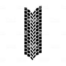 100 Tire By Mark Vector Track Modern Tread Black Stock