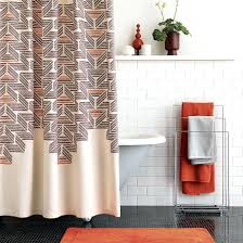 Butterfly Curtain Rod Kohls by View In Gallery Retro Style Shower Curtain From Paisley Shower