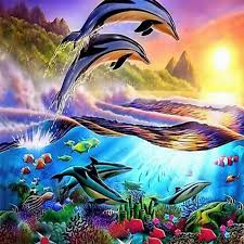 chambre dauphin acheter dauphin océan seabed bricolage diamant peinture diamant