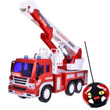100 16 Truck Wheels Remote Control Fire Toy For Boys Fire Rescue Fighting Vehicle Learning Education Toys 1 With Light And Sund Six F45