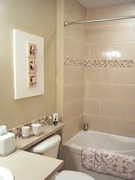 the 3d wall and the mosaic tile border in the shower