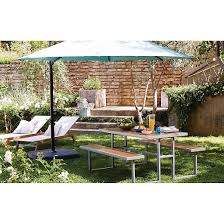 Patio Umbrellas At Target by 11 U0027 Aluminum Push Button Tilt Patio Offset Umbrella With Base