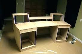 Cheap Recording Studio Desk Home Chic Plans Workstation Along