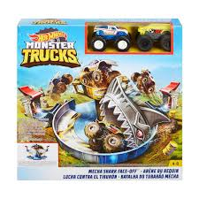 100 Moster Trucks Hot Wheels Monster Mecha Shark FaceOff Playset Kmart