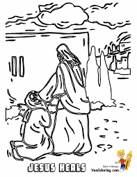 Jesus Heals Bible Story Coloringpages At YesColoring Vs Money Changers Coloring Pages
