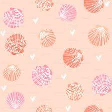 100 Sea Shell Design Seashells Fabric Girls Mermaid Sea Shell Design Pink And Coral