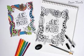 Free Printable Coloring Pages For Adults Be Kind