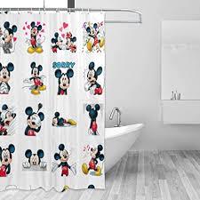 blackbiubiubiu mickey mouse minnie duschvorhang 152 4 x 183