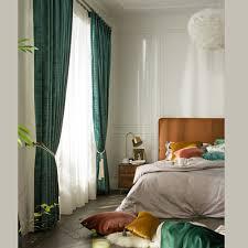 luxus vorhang uni verdickt und blickdicht für schlafzimmer