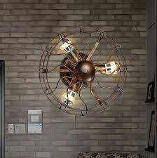 creative industrial electric fan wall sconce loft vintage wall