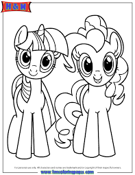 Twilight Sparkle And Pinkie Pie Coloring Page
