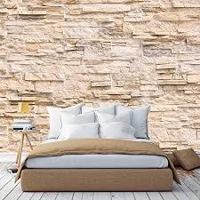 murimage fototapete steinwand 3d optik 366 x 254cm inklusive kleister steine vintage wohnzimmer muster tapete schlafzimmer küche