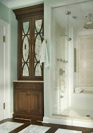 antique mirror glass powder room traditional with antique mirror